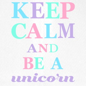 KEEP CALM AND BE A UNICORN - Flexfit Baseballkappe