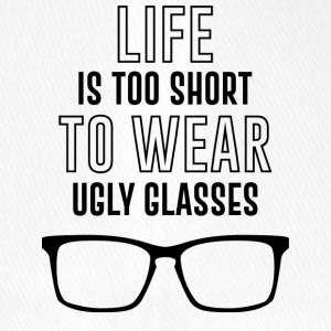 Optician: Life is too short to wear ugly glasses. - Flexfit Baseball Cap