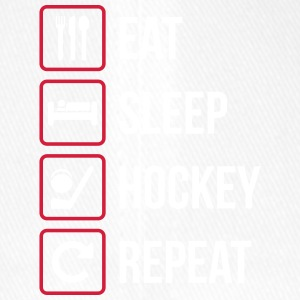 Eat Sleep Hockey Repeat - Flexfit Baseballkappe