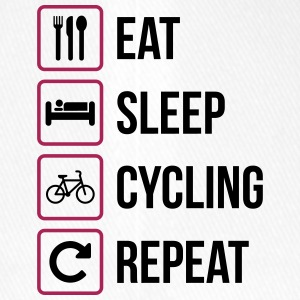 Eat Sleep Cycling Repeat - Flexfit Baseball Cap