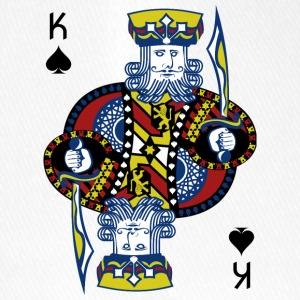 King of Spades Hold'em Poker - Czapka z daszkiem flexfit