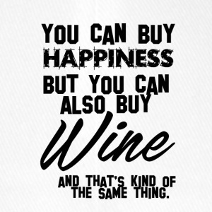 Wein: You can buy Happiness - Wine is the same! - Flexfit Baseballkappe