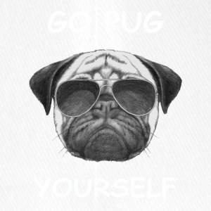 go pug yourself know - Flexfit Baseball Cap