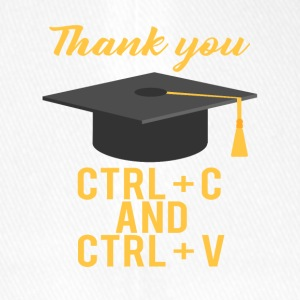 High School / Graduation: Thank you CTRL + C and CTRL - Flexfit Baseball Cap