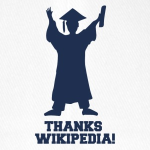 High School / laurea: Grazie Wiki.pedia! - Cappello con visiera Flexfit