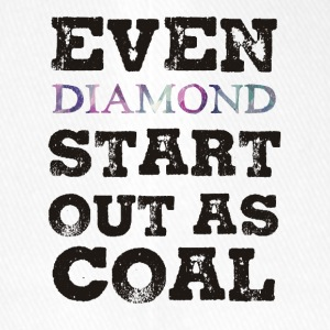 Mining: Even Diamond Start Out As Coal - Flexfit Baseball Cap