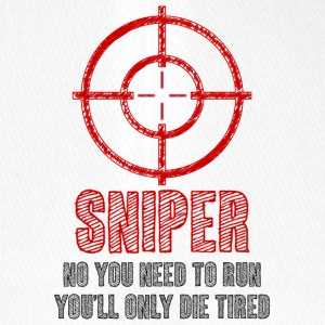 Military / Patriotic: Sniper - No you need to run, - Flexfit Baseball Cap