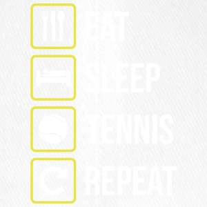Eat Sleep Tennis Repeat - Flexfit Baseballkappe