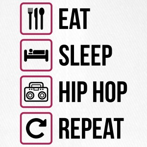 Eat Sleep Hip Hop Repeat - Flexfit Baseballkappe