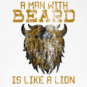 A man with beard is like a lion! - Flexfit Baseball Cap