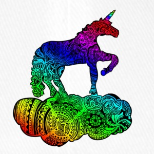 Enchanted Unicorn Multicolor - Flexfit Baseballkappe