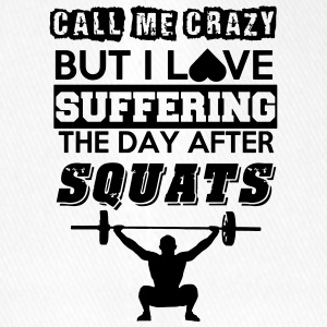 Call me crazy, but I love suffering after squats - Flexfit Baseball Cap