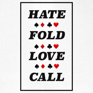 Poker haine Fold Love Call - Casquette Flexfit