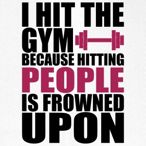 Hit The Gym fitnes t shirt - Flexfit Baseballkappe