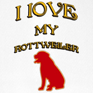 I LOVE MY DOG Rottweiler - Flexfit Baseball Cap