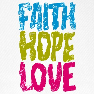 faith hope love - Flexfit Baseballkappe