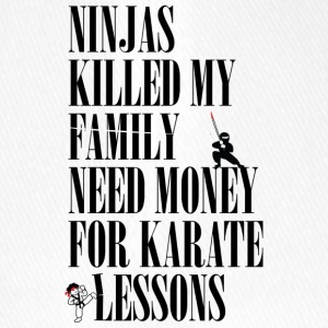 Ninjas killed my family. - Flexfit Baseball Cap
