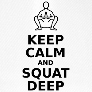 Keep calm and squat deep - Flexfit Baseball Cap