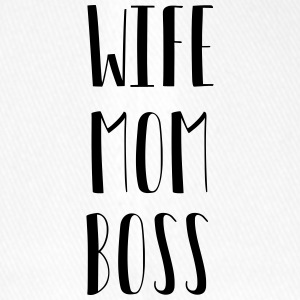 Wife Mom Boss - Flexfit Baseballkappe