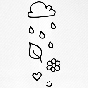 Cloud rain heart leaf flower smiley face - Flexfit Baseball Cap