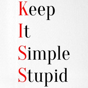 KISS - Keep It Simple Stupid - Gorra de béisbol Flexfit