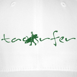 taosurfer_washed_darkgreen - Flexfit Baseballkappe