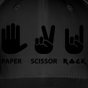 paper scissors rock c - Flexfit baseballcap