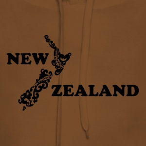New Zealand: map and lettering in black - Women's Premium Hoodie