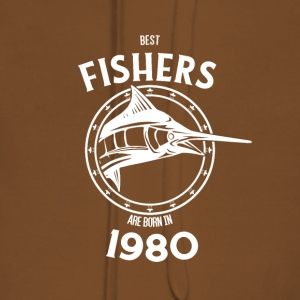 Present for fishers born in 1980 - Women's Premium Hoodie
