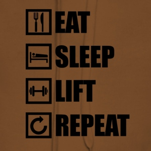EAT SLEEP REPEAT LIFT - Sweat-shirt à capuche Premium pour femmes