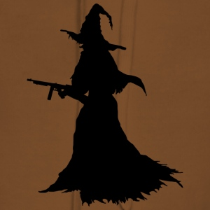 Witch with Assault Rifle / AK for Halloween - Women's Premium Hoodie
