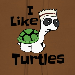 "Funny ""I like turtles"" design - Women's Premium Hoodie"