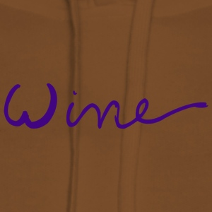 WINE art logo PURPLE - Premium hettegenser for kvinner