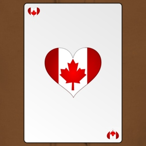 Card Canada Heart Ass Heart - Women's Premium Hoodie