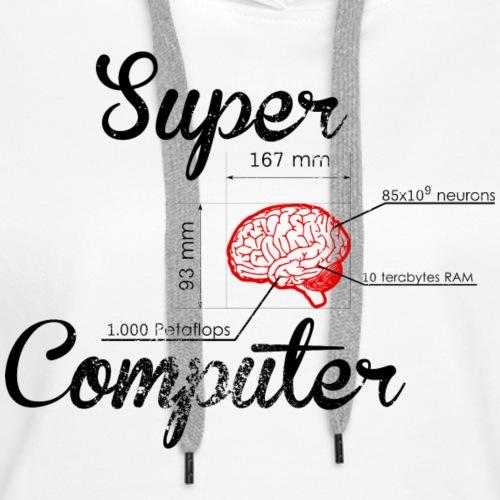 Supercomputer - Vrouwen Premium hoodie