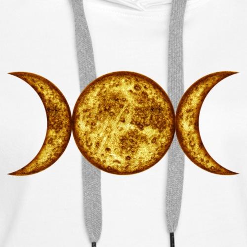 Mondphasen-yellow-wicca - Frauen Premium Hoodie