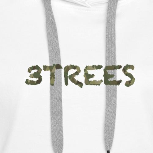 3TREES CAMO - Frauen Premium Hoodie