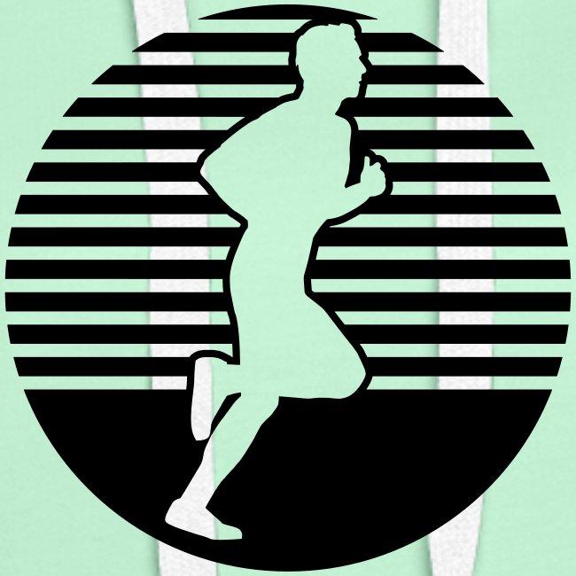 running man seitlich Läufer im Kreis