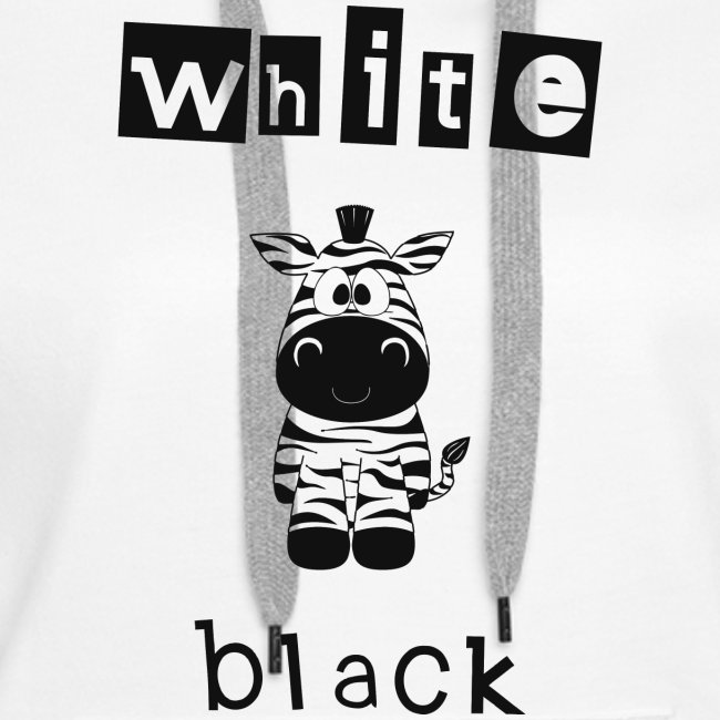 Zebra black or white