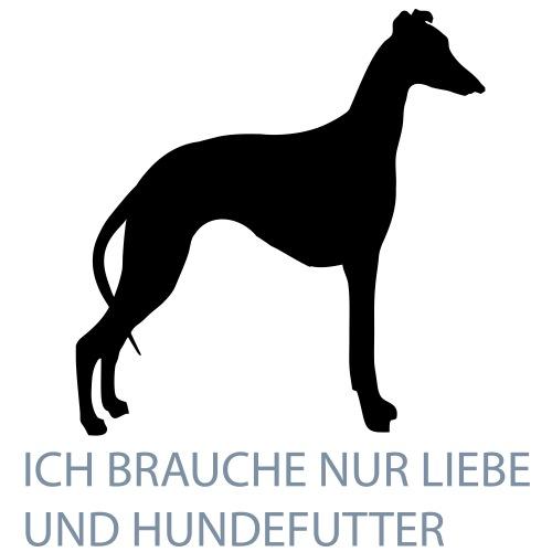 Brauche nur Liebe und Hundefutter - Frauen Premium Hoodie