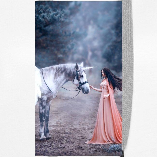 Unicornio con mujer bella