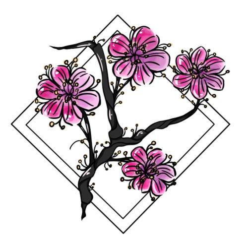 Garden (日本庭園) - Dame Premium hættetrøje