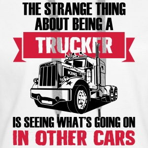 Strange being a trucker - Frauen Premium Hoodie