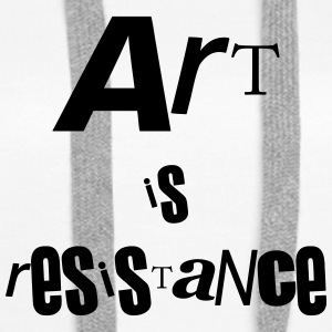 art is resistance - Sweat-shirt à capuche Premium pour femmes