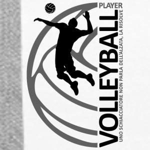 volleyballplayer MAN black - Felpa con cappuccio premium da donna