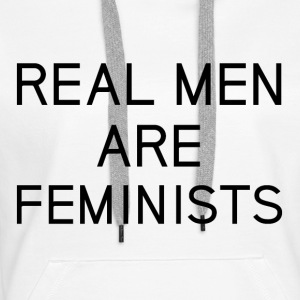 real_men_are_feminists - Women's Premium Hoodie