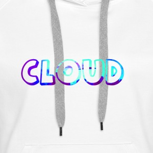 Cloud in blue ink. With cloud pattern inside. - Women's Premium Hoodie