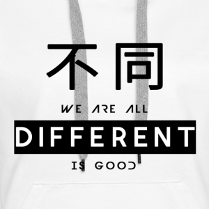 Different is good - Women's Premium Hoodie