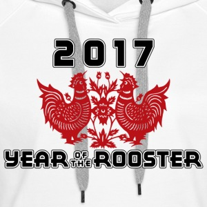 2017 Year of the Rooster - Dame Premium hættetrøje
