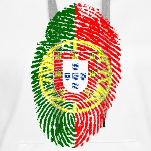 PORTUGAL FINGERPRINT T-SHIRT - Women's Premium Hoodie